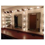 4 wall mirror set w/makeup lights