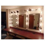 3 wall mirror set w/makeup lights