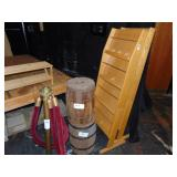 2-wooden barrels and