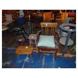 4-wooden stools