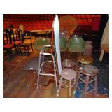4 assorted stools,