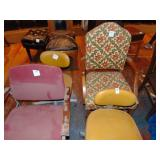 2 antique office chair