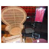 1 wicker high back chair