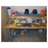 work bench w/2 welding helmets