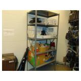 7ft 6-shelve gray metal rack