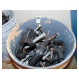 bucket full of lighting mounting brackets