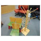 3 childs chair and childs game