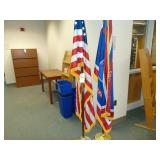 2 flag stands