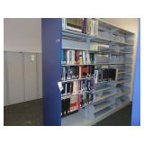 3 section double sided bookshelf