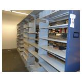 6 section double sided bookshelf