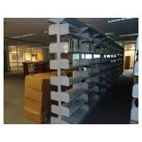 9 section double sided book rack