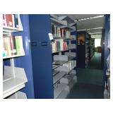 2 section double sided bookshelf