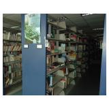 5 section double sided bookshelf