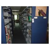 7 section double sided bookshelf