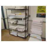 wire rack w/paper