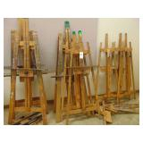 wooden painting easels