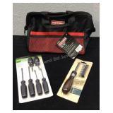 Craftsman Tool Bag & Tools, New