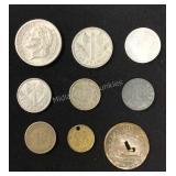 1800s European Coins & 1837 US Token
