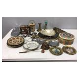 Vintage Trays, Dishes, Candleholders