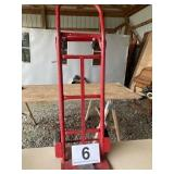 Dolly adjustable height small wheels for cart