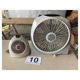 Fan and small heater fan