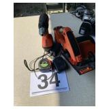Black and Decker drill, saw, charger
