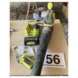 Ryobi leaf blower w/battery and charger