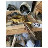1/4 roll of copper tubing misc rods etc.