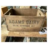 Wooden Box Adams dairy Blue Springs, Mo.
