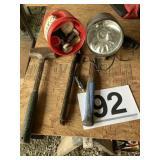 Hammer, Hatchetts, spot light, gauges