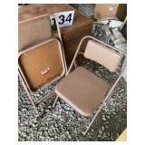 (2) Padded Samsonite folding chairs