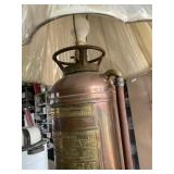 Antique fire ext. Lamp (RED STAR)