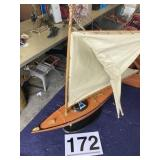 """Blue Bell wooden sail boat  L-25"""""""