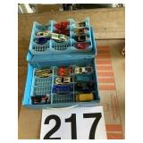Misc matchbox and Hot wheels w/case