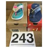 Womens sz. 11 Celso Thong + & NikeComfort