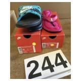 Womens Nike sz. 12Benassi & solarsoft