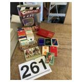 Misc sets of cards & Guesstures game