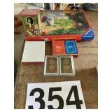 Cards, Enchanted Game and vintage kids game