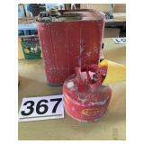 Matal gas cans (2)