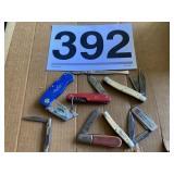 Old Timer, Barlow, Swiss,R/R Sheffield  Knives