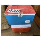 (2) Coolers one is vintage 40quart
