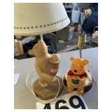 (2) Pooh Lamps