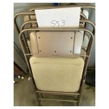 (4) Cushioned chairs and tables