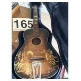 "Gator guitar case with guitar ""Lariat"""