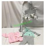 BABY MOBILE & CLOTHES