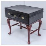 Stool Repurposed with Vintage Suitcase
