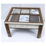 Cool Vintage Table w/6-Pane Glass Window Top