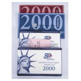 2x State Quarters US Mint Proof Sets 2000 + 2x US