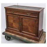 Wood Buffet w/Leather Inset Top