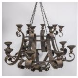 Large Metal Candle Chandelier